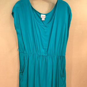 Mossimo Teal Turquoise  XXL Dress with Pockets